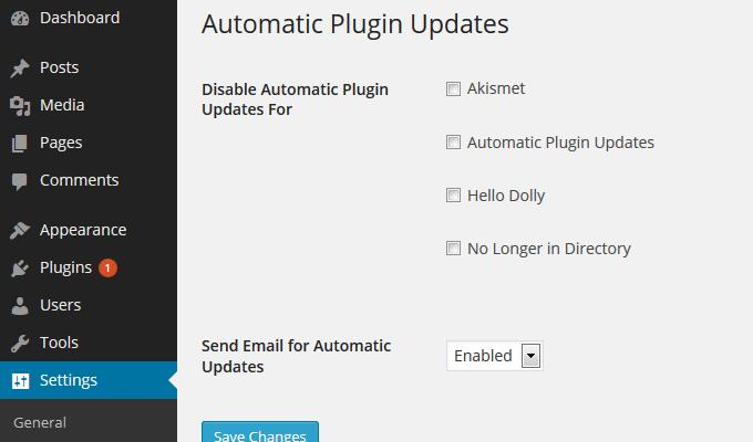 Auto actualizar plugins