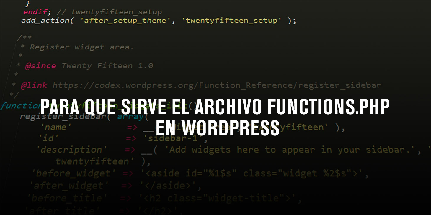 Archivo functions php wordpress