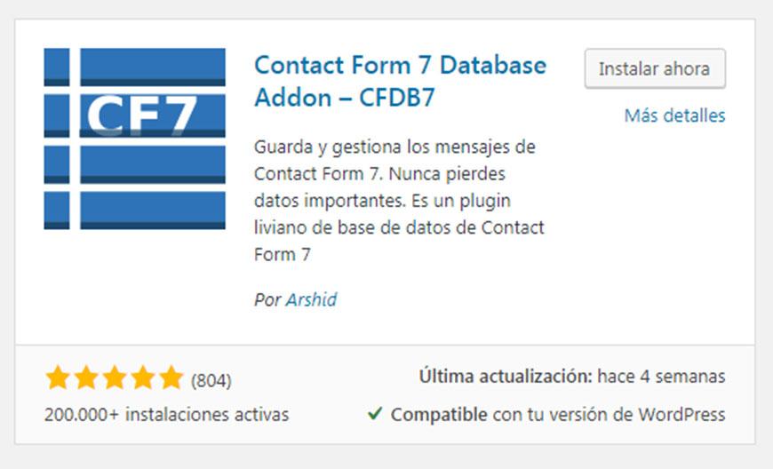Instalación addon CFDB7