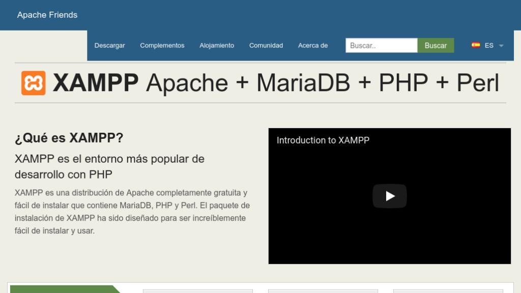 XAMPP sevidor web local para wordpress